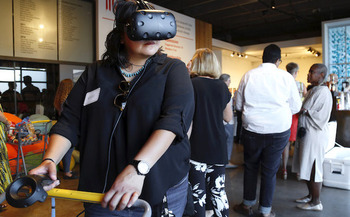 A new virtual-reality exhibit in Denver invites legislators, the public and tourists to see the faces and stories behind the statistics of hunger in Colorado. (Hunger Free Colorado)