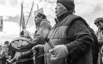 The Keystone XL project, proposed to span 1,200 miles from the Montana-Canada border through South Dakota and Nebraska, is expected to draw protesters when construction begins. (JosueRivas/NDN Collective File)