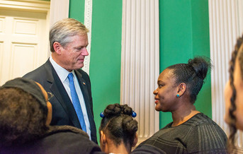 Gov. Charlie Baker has authorized a $1.5 billion boost to public-school funding with his approval on Tuesday of the Student Opportunity Act. (Office of Charlie Baker/Flickr)