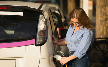 Consumer Reports says when combined with a home solar system, electric vehicle �fuel� costs could be zero. (scharfsinn86/Adobe Stock)