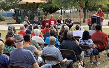 More than 150 Arizonans attended the dedication of AARP Arizona�s new fitness park at the Rose Mofford Sports Complex in north Phoenix. (AARP Arizona)