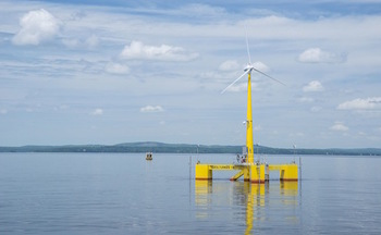 Maine Aqua Ventus is currently evaluating the first floating wind turbine technology in the Americas. (Maine Aqua Ventus)