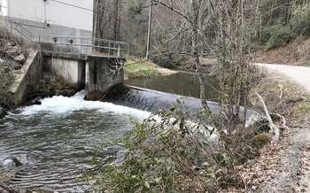Cathey's Creek in Brevard is the city's main source of drinking water. (Resource Institute)