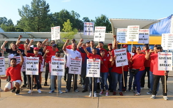 Workers with Amalgamated Transit Union Local 689 in Lorton have been on strike since Oct. 24. (ATU Local 689)