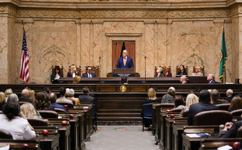 During his 2020 State of the State address, Gov. Jay Inslee called on lawmakers to act to remedy the state's affordable housing crisis. (Office of the Governor)