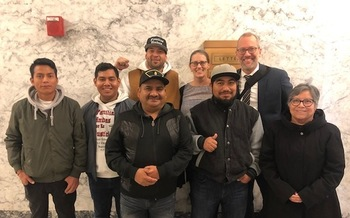 Farmworkers were at the State Capitol in Olympia this week, pushing for an update to the Washington Farm Labor Contractor Act. (Community to Community Development)