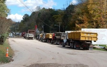 An investigation by Rolling Stone magazine found the waste from Marcellus wells that crowds some area roads is radioactive enough to be seen as a threat to workers and the public. (Bill Hughes)