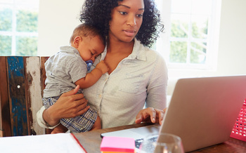 Around 75% of mothers and 50% of fathers have passed up work opportunities, switched jobs or quit to care for their children, according to data from the NC Early Childhood Foundation. (Adobe Stock)