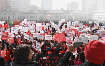 Virginia educators are back again in Richmond today for a second annual rally for more school funding. (VEA)