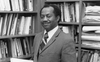 Dr. Gordon Morgan, the first African-American professor hired by the University of Arkansas, passed away in December at age 88. (Special Collections, University of Arkansas Libraries)
