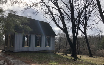 The Colored Methodist Protestant St. John's Chapel of Baltimore County, where Howard Cooper, who was lynched in 1885, is said to be buried in an unmarked grave. (D.J. Cashmere)