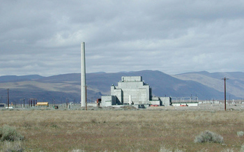 Built during World War II, the B Reactor at the Hanford Site was the first large-scale nuclear reactor ever built. (Energy.gov/Wikimedia Commons)