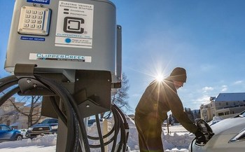 Finding a charging station can induce anxiety for electric-vehicle owners, but six stations are located in and around Yellowstone National Park. (Herbert/National Parks Service)