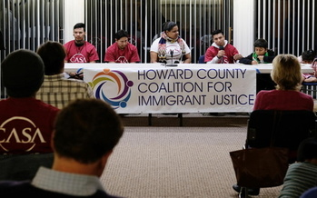 Howard County Coalition for Immigrant Justice is calling on Maryland officials to stop what they see as excessive practices by ICE. (Casa de Maryland)