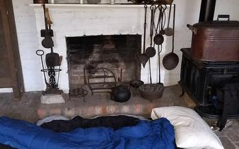 Sleeping bag set up at Old Alabama Town, a historical village in Montgomery, Alabama. (Joe McGill)