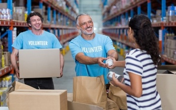 Hunger Solutions Minnesota is encouraging people planning to donate extra supplies to food shelves to take in boxes from neighbors. They say fewer trips can help prevent the spread of the coronavirus. (Adobe Stock)