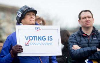 Groups are urging Gov. Ralph Northam to allow voters to submit absentee ballots in upcoming elections without having to give an excuse. (ACLU)<br /><br />