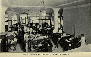 The Bank of North Dakota, at more than 100 years old, remains the only state-owned bank in the United States. Two dozen other states are considering opening their own. (Charles Russell/Wikimedia Commons)