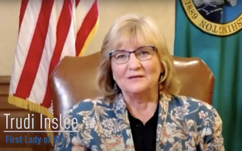 First Lady Trudi Inslee discusses caregivers during the coronavirus pandemic on Spread The Facts. (TVW)