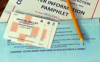 California is the first state to send mail-in ballots to all voters, while at the same time preserving robust in-person voting options. (Flickr)