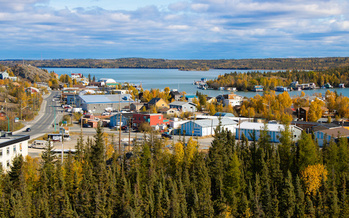 Houses in Yellowknife, Canada, a region where indigenous communities are struggling with the effects of a warming climate. (Adobe Stock)