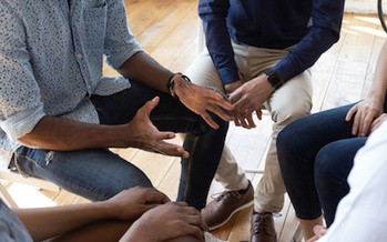 Group counseling is an important part of substance-abuse recovery. (Adobe Stock)<br /><br />