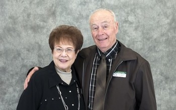 Mozelle and Don Neville of Idaho Falls received the 2019 Andrus Award for Community Service for their work distributing goods in southern Idaho. (Sherwin Crooks/AARP Idaho)