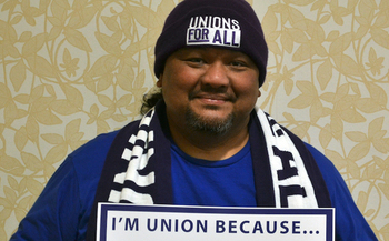 Jose Atil is a paraeducator for English language learners in Vancouver, Wash., and also works at Camp Evergreen, a day care program for the children of first responders. (PSE SEIU Local 1948)