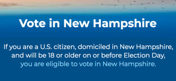 More than 70% of eligible voters in New Hampshire cast ballots in the 2016 General Election. (Voteinnh.org)