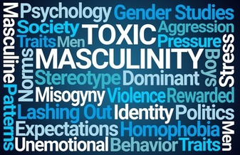 Hyper-masculine attitudes and behaviors contribute to the idea that men must be strong and in control. (AdobeStock)