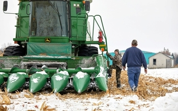 Saginaw Bay farmer Jason Haag says extreme weather patterns are becoming a regular challenge for his operation. (Michael DL Jordan/DLP)