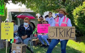 Workers are on strike at four of the six fruit packing warehouses in Yakima Valley. (Christopher Boswell/Adobe Stock)