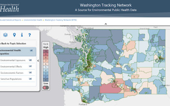 Washington state has created a map that breaks down racial health disparities due to environmental conditions. (Washington State Department of Health)
