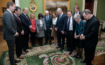 A PRRI poll showed white evangelical support for President Donald Trump fell by 15% between March and the end of May. (Official White House Photo by Shealah Craighead)