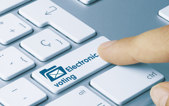 In 2012, a federal appropriations provision prohibited a key federal agency from developing electronic voting infrastructure for union elections. The U.S. House is trying to change that. (Adobe Stock)