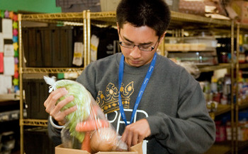 Food pantries have had to figure out new ways to acquire and store food as donations from grocery stores have gone down but excess produce meant for restaurants has increased. (Share our Selves)