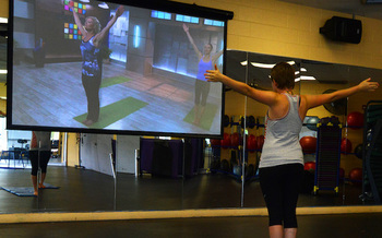Many Nebraska businesses, including yoga studios and gyms, have gone virtual during the pandemic with help from the Center for Rural Affairs. (USAF)