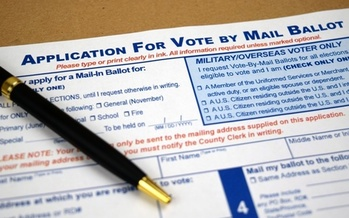 A lawsuit contends the pandemic will make it more difficult for Indiana voters to comply with a noon Election Day receipt deadline for mail-in ballots. (Adobe Stock)<br />