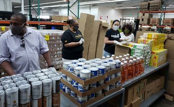 Indiana's food banks turned their normal distribution system on its head to quickly adapt to the pandemic. (Foodbank of Northwest Indiana)