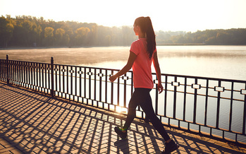 A growing body of evidence suggests that, in addition to improving circulation and bone strength, regular walking also can boost mental health. (Adobe Stock)<br /><br />