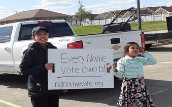 Despite a variety of obstacles in 2020, groups such as North Dakota Native Vote have been trying to build on voter-participation progress in tribal areas. (ND Native Vote)