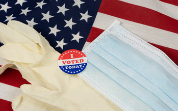 Even though North Dakota doesn't have a statewide mask mandate, local election officials, including in McKenzie County, will strongly encourage mask use for people voting in person this fall. (Adobe Stock)