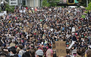 Protesters in Seattle have been in the streets for months now, ever since the police killing of George Floyd in Minneapolis. (Wikimedia Commons)