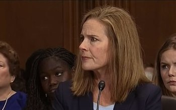 Judge Amy Coney Barrett is President Donald Trump's nominee to fill the seat of the late Ruth Bader Ginsburg. (C-Span/Wikipedia)