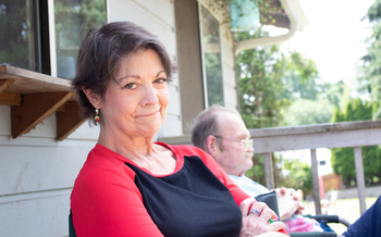 Vicki Bickford says she relies on her income as a caregiver to stay afloat. (SEIU 775)