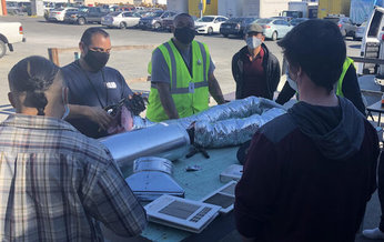 Classes like this one, in heating, ventilation and air conditioning (HVAC) technology, offer skills that will help connect California workers to jobs. (Goodwill)