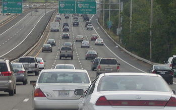 Emissions from Northern Virginia's heavy commuter traffic causes people to experience serious lung problems such as asthma, according to a new report. (Wikimedia Commons)