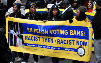 An estimated 5.2 million Americans remain disenfranchised because of felony convictions. That's 2.3% of the voting-age population. (Michael Fleshman/Flickr)
