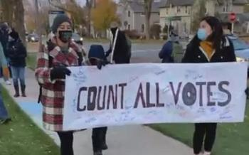 We Make Michigan is holding rallies and marches this week to ensure every vote is counted. (AdobeStock)<br />