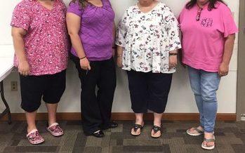 Diabetes Prevention Program facilitators and participants at Juniper Health in Jackson, Ky. L-R: Bridget Turner, Rebecca Smith, Karen Kerr and Kathy Gay. (Parker Hobson)